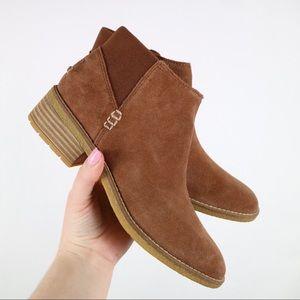 Sperry brown pull-on maya lani ankle booties 7.5